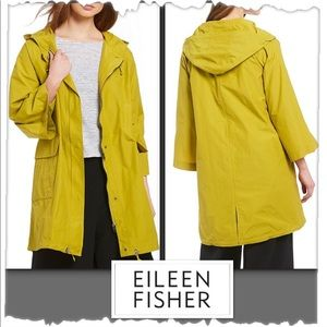Eileen Fisher Hooded Anorak Mustard Seed Jacket